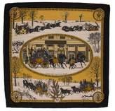 Hermes L'Hiver en Poste Cashmere & Silk-Blend Scarf