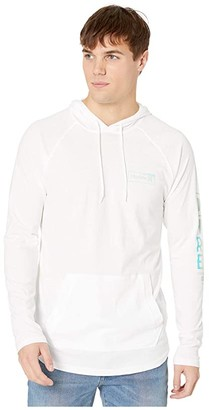 Hurley One Only Box Gradient Long Sleeve Hoodie (White) Men's T Shirt
