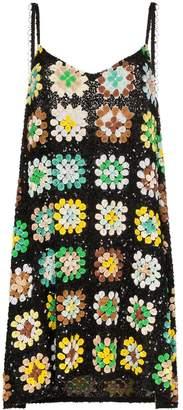 Ashish sequin-embellished crochet mini dress