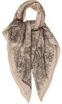 Hermes Le Jardin De Leila Cashmere Silk Shawl
