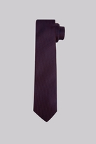DKNY Wine And Navy Textured Skinny Tie