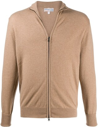 Ballantyne Zip-Up Cashmere Jumper