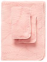 Melange Home Palm Cotton Stonewash Quilt Set