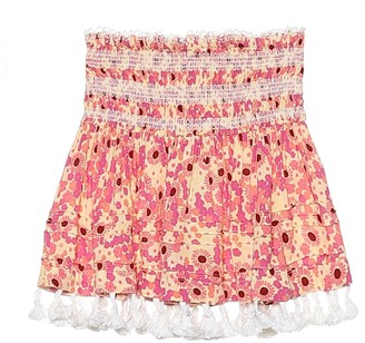 Poupette St Barth Kids Mara smocked floral skirt