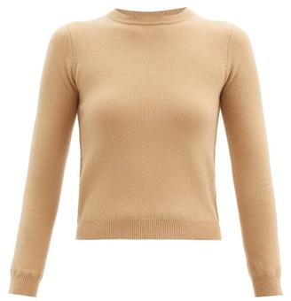 Extreme Cashmere N98 Kid Round-neck Stretch-cashmere Sweater - Camel
