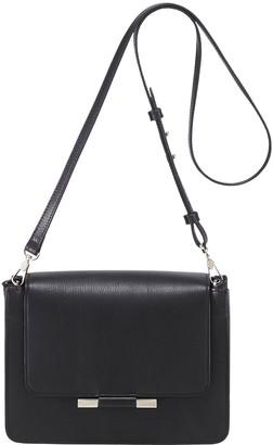 Helen Kaminski Violet Raffia & Leather Boxy Clutch