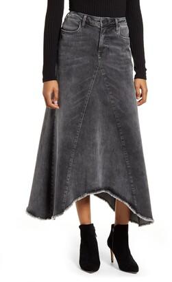 WASH LAB Long Denim Skirt