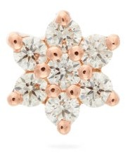 Maria Tash Diamond Flower 18kt Rose Gold Earring - Rose Gold