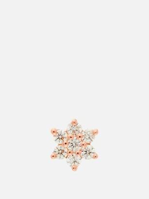 Maria Tash Diamond Flower 18kt Rose Gold Earring - Womens - Rose Gold