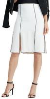 Lauren Ralph Lauren Piped Slit Skirt