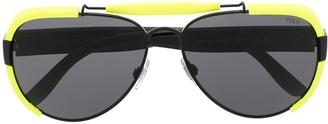 Polo Ralph Lauren Aviator Blinker Sunglasses