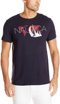 Nautica Men's World Map Graphic T-Shirt
