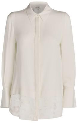 Alexander McQueen Lace-Trim Silk Shirt