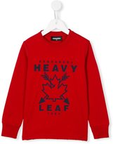 DSQUARED2 heavy leaf print sweatshirt