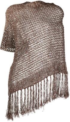 Pinko Knitted Metallic Cape