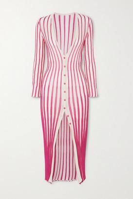 Jacquemus Jacques Striped Cotton-blend Midi Dress