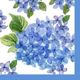 Paper Products Hydrangea Paper Cocktail Napkins, Set of 20