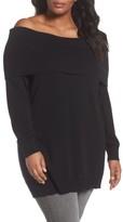 Sejour Plus Size Women's Convertible Neck Sweater