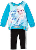 Children's Apparel Network Blue 'Make Your Own Magic' Top & Leggings - Toddler & Girls