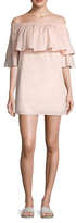 Lucca Couture Poplin Off The Shoulder Mini Dress