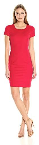 Armani Jeans Women's Stretch Satin Short Sleeve Dress with Back Cut Out