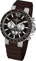 Jacques Lemans Milano 1-1696D Men's Chronograph Brown Silicone Strap Watch