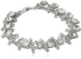 """Anne Klein Simply Stated"""" Silver-Tone Crystal Pave Bracelet"""