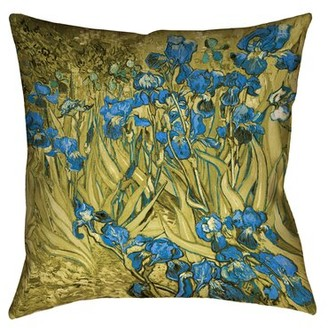 "Mcguigan Gold Ombre Art Deco Pillow - Poly Twill East Urban Home Size: 16"" x 16"""