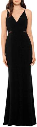 Xscape Evenings Side Illusion Mermaid Gown