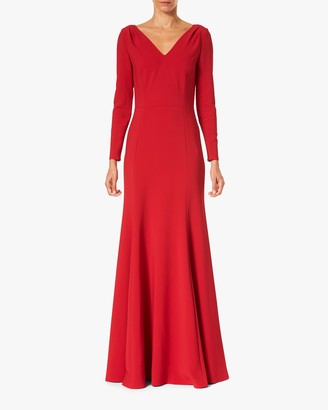 Carolina Herrera V Neck Trumpet Gown