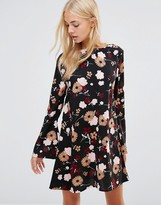 Daisy Street Smock Dress In Floral Print