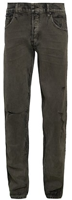 Hudson Distressed Slim Straight Jeans