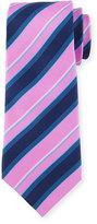 Davidoff Regimental Silk Tie, Purple/Black
