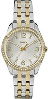 Timex Women's T2P389 Swarovski Crystal-Accented Stainless Steel Watch