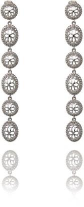 Georgina Jewelry Two Tone Silver Signature Long Earrings