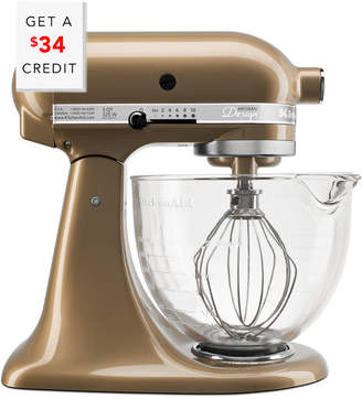 KitchenAid Artisan Design Series 5Qt Tilt - Head Stand Mixer With Glass Bowl - Ksm155gbcz With $34 Credit