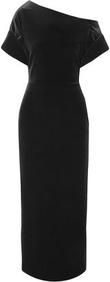 Christopher Kane Off-the-shoulder Draped Velvet Midi Dress