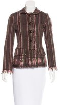 Lela Rose Fitted Bouclé Jacket