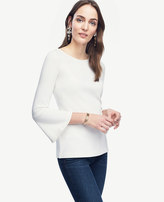 Ann Taylor Petite Fluted Boatneck Top