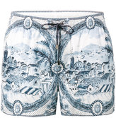 Dolce & Gabbana ceramic print swim shorts