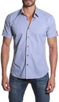 Jared Lang Short Sleeve Button Tab Semi-Fitted Shirt