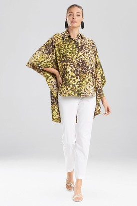 Natori Ombre Animale - Silky Soft Batwing Blouse