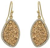 Gemma Collection Gold Druzy Earrings