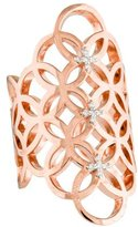 Catherine Malandrino Diamond Circle Linked Gladiator Ring