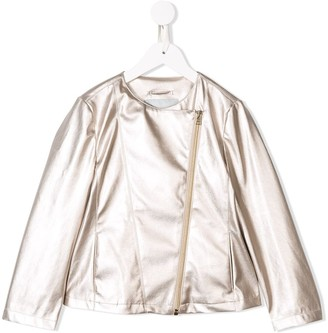 Herno off-centre zipped jacket