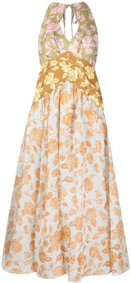 Zimmermann All-Over Floral Print Halterneck Dress