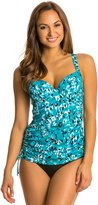 Penbrooke Jungle Jewels Underwire Adjustable Side Tankini Top 8136128