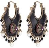 Alexander McQueen Swarovski crystal Baroque pearl fan earrings