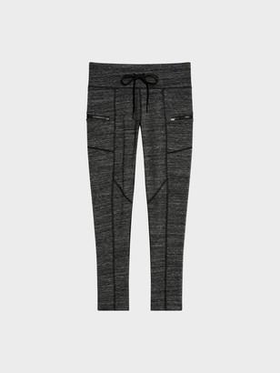 DKNY 7/8 Length Mid-rise Legging With Zipper Pockets