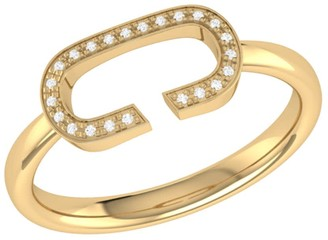 Lmj Celia C Ring In 14 Kt Yellow Gold Vermeil On Sterling Silver